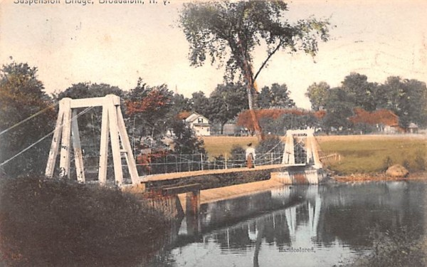 Suspension Bridge Broadalbin, New York Postcard