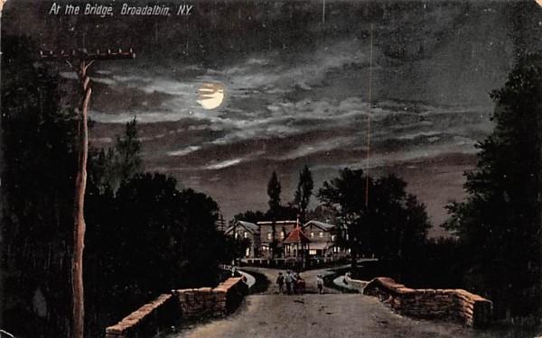 At the Bridge Broadalbin, New York Postcard