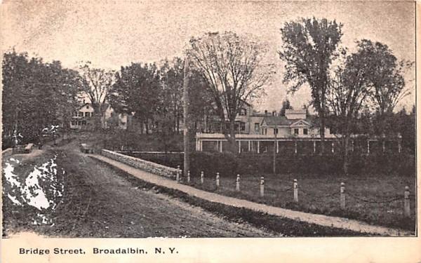 Bridge Street Broadalbin, New York Postcard