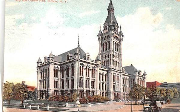 City & County Hall Buffalo, New York Postcard