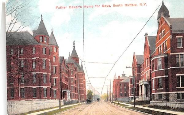 Father Baker's Home for Boys Buffalo, New York Postcard