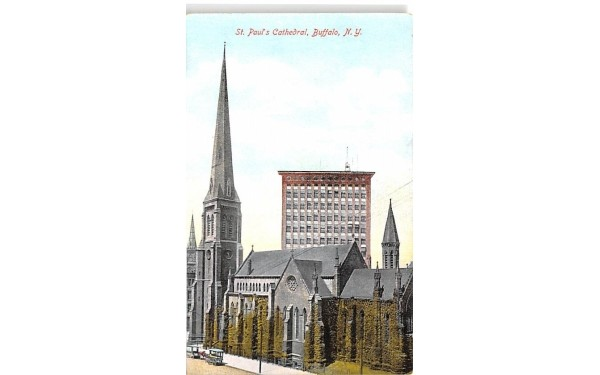 St Paul's Cathedral Buffalo, New York Postcard