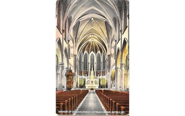 Interior of St Louis Roman Catholic Church Buffalo, New York Postcard
