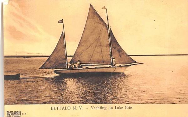Yachting on Lake Erie Buffalo, New York Postcard