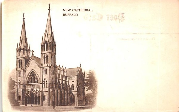 New Cathedral Buffalo, New York Postcard
