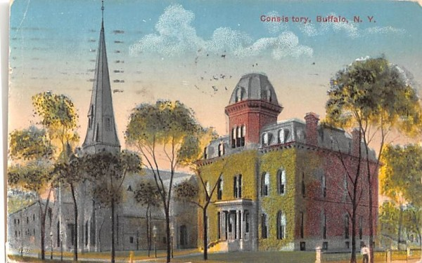 Consistory Buffalo, New York Postcard