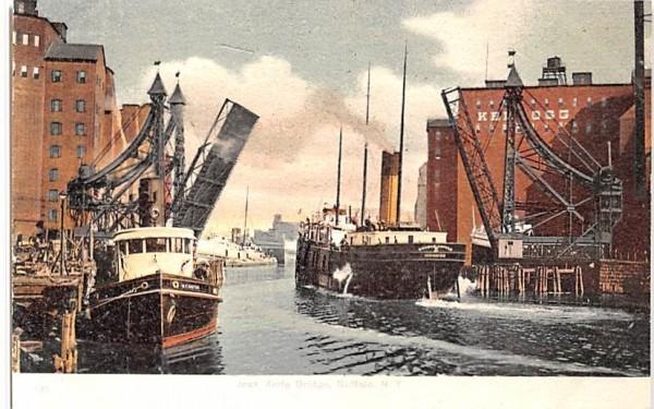 Jack Knife Bridge Buffalo, New York Postcard