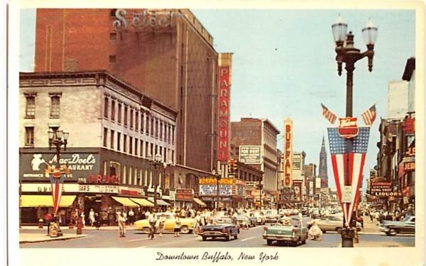 Downtown Buffalo New York Postcard