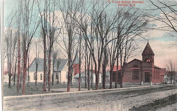 ME & Baptist Churches Buffalo, New York Postcard