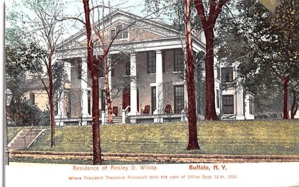 Residence of Ansley D Wilcox Buffalo, New York Postcard