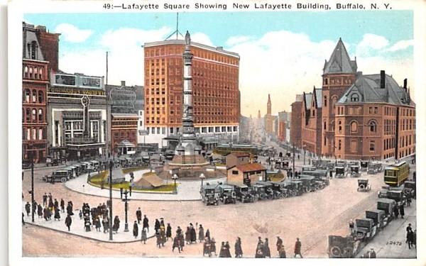 Lafayette Square Buffalo, New York Postcard