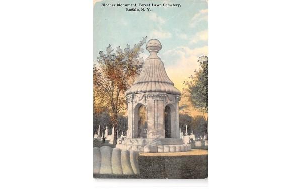 Blocher Monument Buffalo, New York Postcard