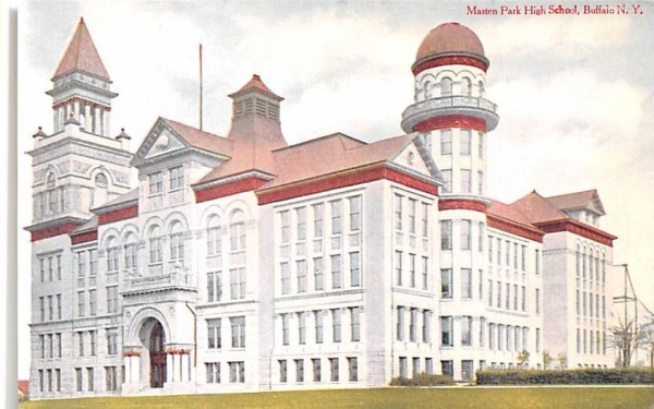 Masten Park High School Buffalo, New York Postcard