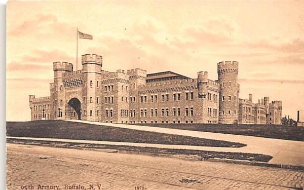 65th Regiment Armory Buffalo, New York Postcard