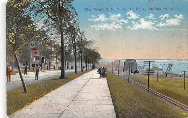 Front & NYC HRR Buffalo, New York Postcard