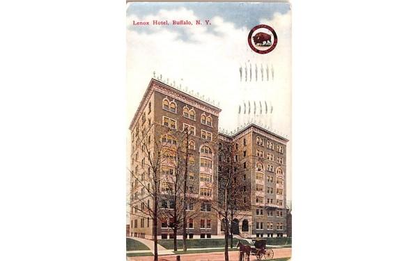 Lenox Hotel Buffalo, New York Postcard
