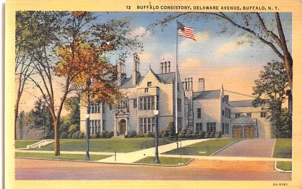 Buffalo Consistory New York Postcard