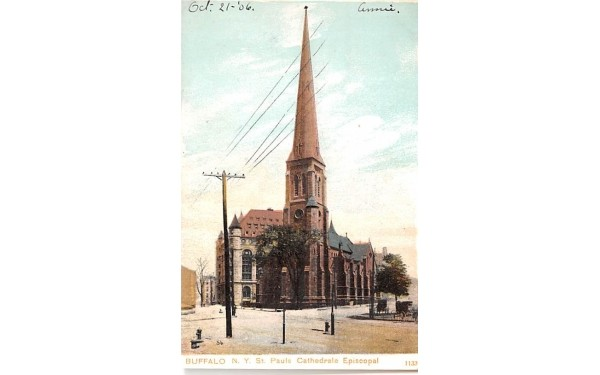 St Paul's Cathedral Episcopal Buffalo, New York Postcard