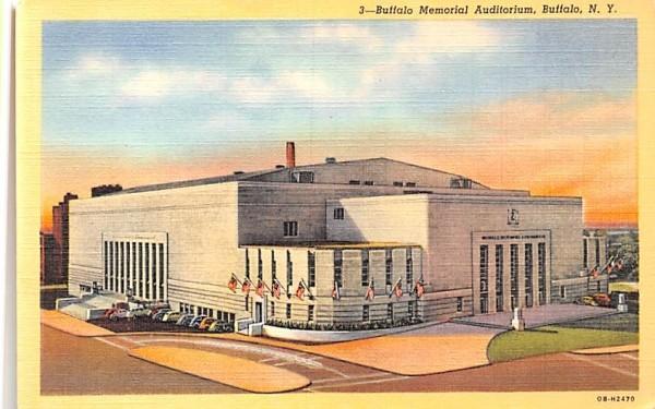 Buffalo Memorial Auditorium New York Postcard