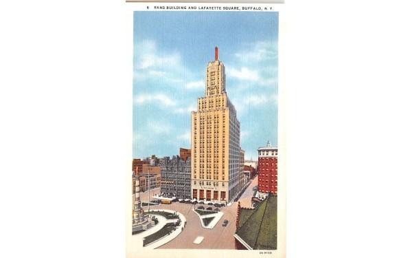 Rand Building & Lafayette Square Buffalo, New York Postcard