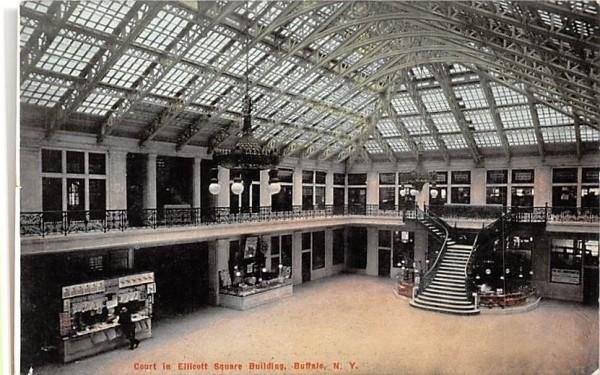 Court in Ellicott Square Building Buffalo, New York Postcard