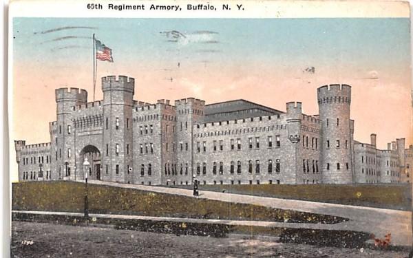65th Armory Buffalo, New York Postcard
