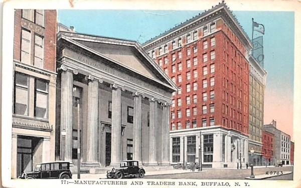 Manufacturers & Traders Bank Buffalo, New York Postcard