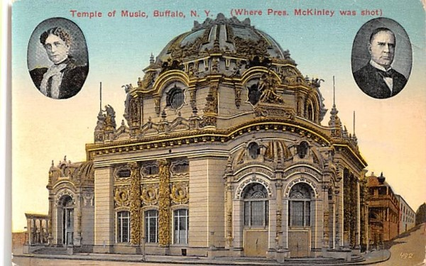 Temple of Music Buffalo, New York Postcard