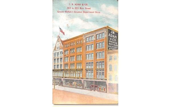 JN Adam & CO Buffalo, New York Postcard