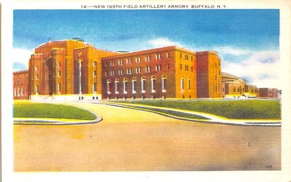 New 165th Field Artillery Armory Buffalo, New York Postcard