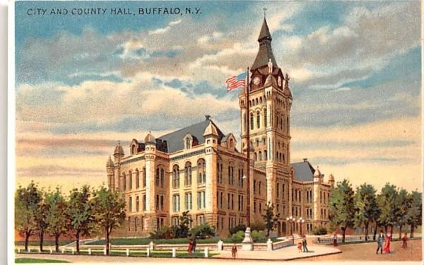 City and County Hall Buffalo, New York Postcard