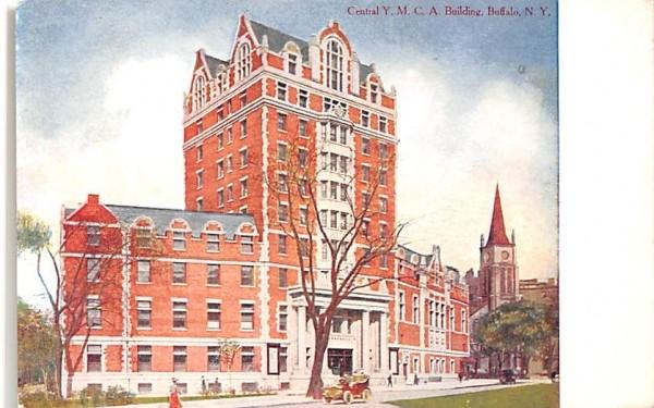 Central YMCA Buffalo, New York Postcard