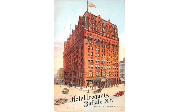 Hotel Iroquois Buffalo, New York Postcard