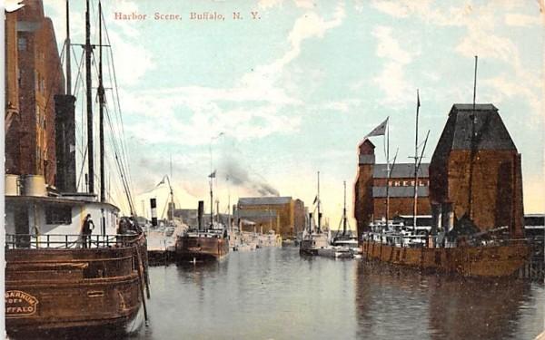 Harbor Scene Buffalo, New York Postcard