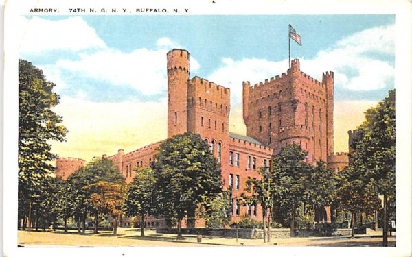 Armory Buffalo, New York Postcard