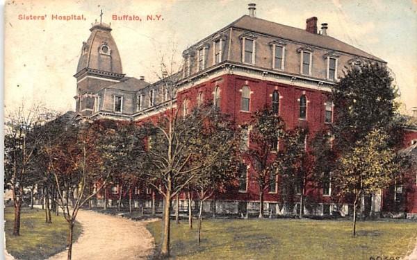 Sisters' Hospital Buffalo, New York Postcard