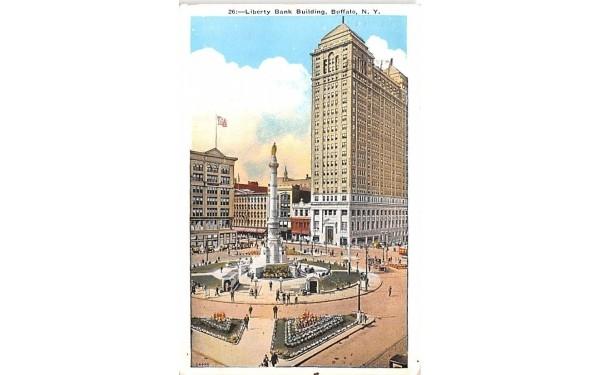 Liberty Bank Building Buffalo, New York Postcard