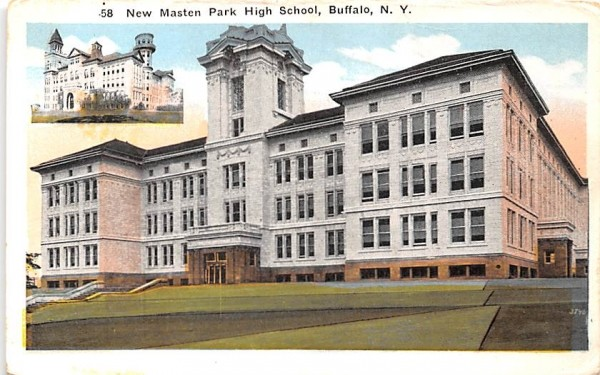 New Masten Park High School Buffalo, New York Postcard