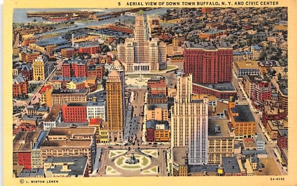 Aerial View Buffalo, New York Postcard