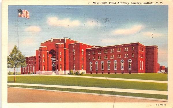 New 106th Field Artilery Armory Buffalo, New York Postcard