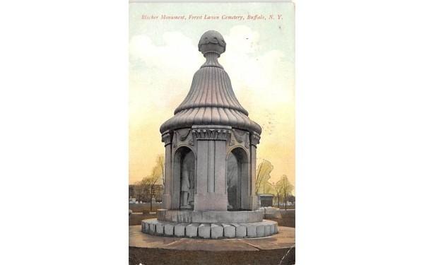 Blacher Monument Buffalo, New York Postcard