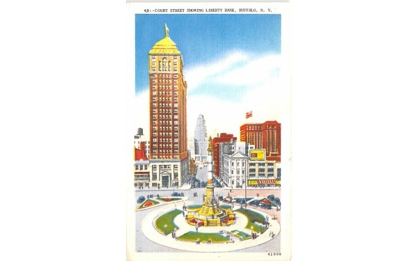 Court Street Buffalo, New York Postcard