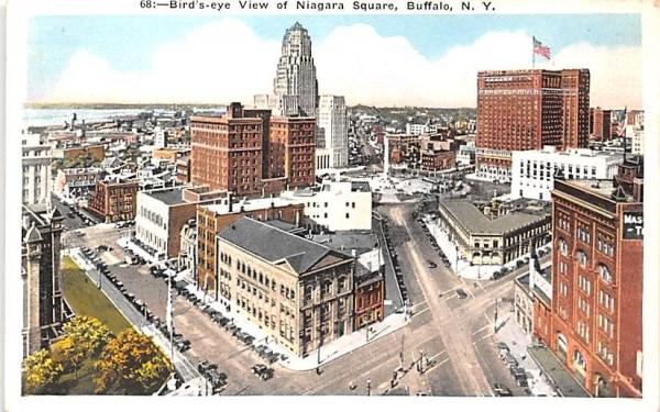 Niagara Square Buffalo, New York Postcard