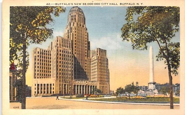 New City Hall Buffalo, New York Postcard