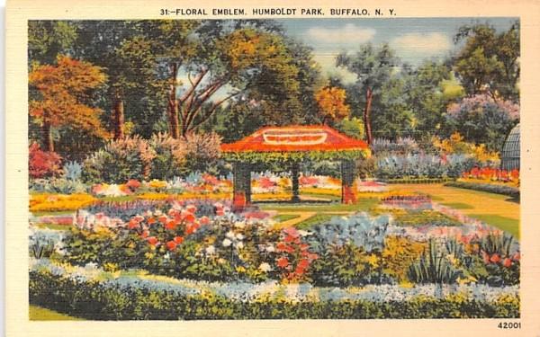 Floral Emblem Buffalo, New York Postcard