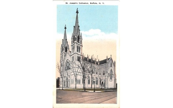 St Joseph's Cathedral Buffalo, New York Postcard