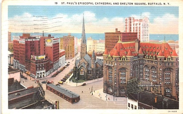 St Paul's Episcopal Cathedral Buffalo, New York Postcard
