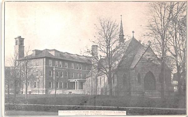 Episcopal Church Home & Holy Innocents Chapel Buffalo, New York Postcard