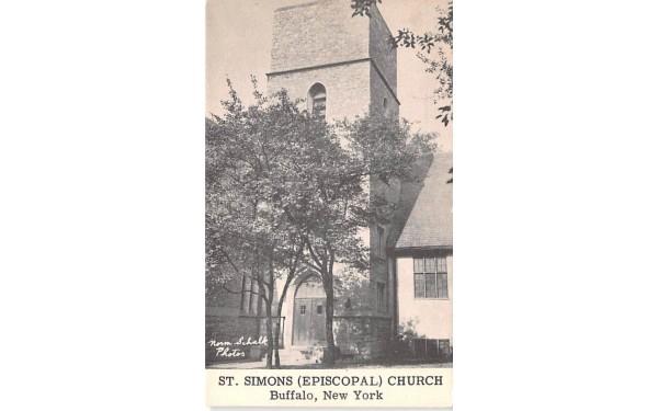 St Simons Episcopal Church Buffalo, New York Postcard