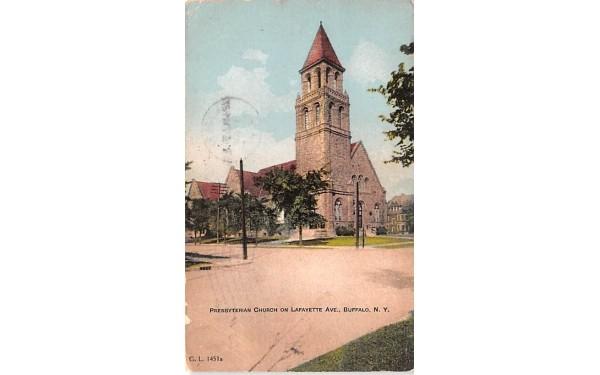 Presbyterian Church Buffalo, New York Postcard